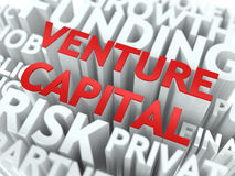 Venture Capital - Wordcloud Concept. Stock Photo