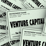 Venture Capital Words Check Money New Company Business Investmen Stock Image