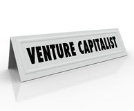 Venture Capitalist Name Tent Card Startup Business Finance Inves Royalty Free Stock Photos