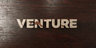 Venture - grungy wooden headline on Maple  - 3D rendered royalty free stock image Stock Photography