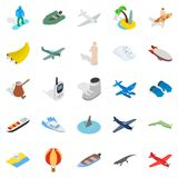 Venture icons set, isometric style. Venture icons set. Isometric set of 25 venture vector icons for web isolated on white background Royalty Free Stock Photography