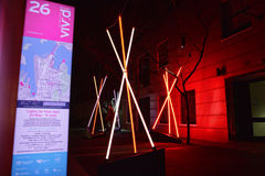 Venture, teepee structures at Vivid Sydney Stock Photography