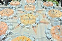 Venue för bröllopmottagandedeltagare arkivbilder