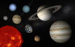 venus солнечной системы путя ртути фокуса земли клиппирования Стоковые Изображения RF