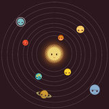 venus солнечной системы путя ртути фокуса земли клиппирования Стоковые Изображения