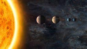 venus солнечной системы путя ртути фокуса земли клиппирования стоковые фото