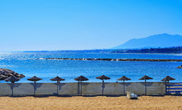 Venus Beach in Marbella, Spain Royalty Free Stock Photography