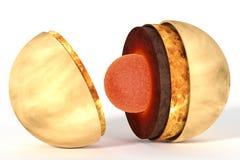 Venus binnenstructuur voor wetenschap Royalty-vrije Stock Fotografie