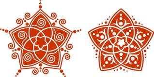 Venus-Blume Pentagram - goldenes Verhältnis stock abbildung