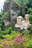 Venus Castle dans Erice, Italie image libre de droits