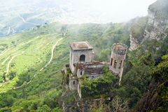 Venus Castle at Erice, Sicily, Royalty Free Stock Photography