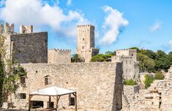 Venus Castle, the Norman Castle of Erice, Sicily, Italy Royalty Free Stock Photos