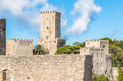 Venus Castle, the Norman Castle of Erice, Sicily, Italy Stock Photo