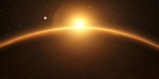 Venus. Cinematic and very realistic sunrise royalty free stock photo