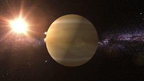 Venus 3D text runt om planeten Venus vektor illustrationer