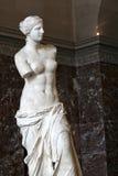 Venus de Milo i Louvre, Paris Arkivbild
