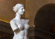 Venus de Milo Louvre, Paris, Frankrike Royaltyfri Bild