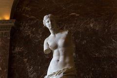 Venus de Milo Louvre, Paris, Frankrike Arkivbild