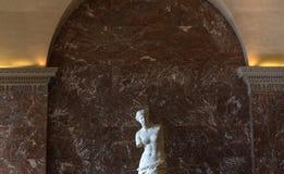 Venus de Milo Louvre, Paris, Frankrike Arkivbilder