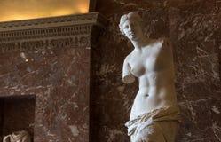 Venus de Milo Louvre, Paris, Frankrike Royaltyfri Foto