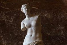 Venus de Milo Louvre, Paris, Frankrike Royaltyfria Foton