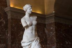 Venus de Milo Louvre, Paris, Frankrike Arkivfoto