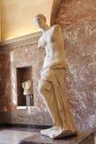 Venus de Milo Marble Statue bij het Louvremuseum in Parijs, Frankrijk stock foto