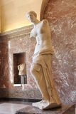 Venus de Milo Marble Statue at the Louvre Museum in Paris, France Stock Photo