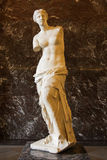 Venus de Milo. Sculpture can be found inside he Louvre Museum Royalty Free Stock Image