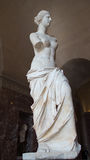 The Venus de Milo statue on display in Louvre, Paris, France Stock Image