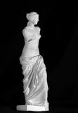 Venus de Milo staty på en svart bakgrund kopia Arkivfoton