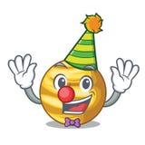 Venus de planète de clown d'isolement avec sur la mascotte illustration de vecteur