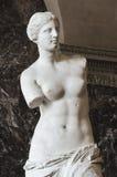Venus Di Milo, een beeldhouwwerk van het Roman godinvenus, is kn Royalty-vrije Stock Afbeeldingen