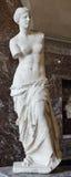 Venus Di Milo, en skulptur av den romerska gudinnan Venus, är kn Royaltyfri Fotografi