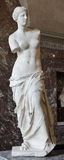 The Venus Di Milo, a sculpture of the Roman goddess Venus, is kn royalty free stock photography