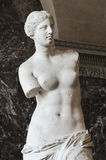 The Venus Di Milo, a sculpture of the Roman goddess Venus, is kn royalty free stock images