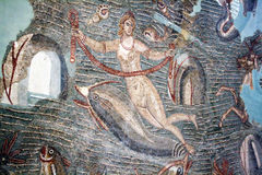 Venus and dolphins. The roman mosaic of venus and the dolphins inside the bardo museum of tunis Stock Photography