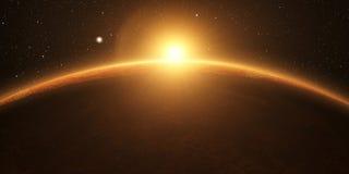 venus Film- und sehr realistischer Sonnenaufgang lizenzfreies stockfoto