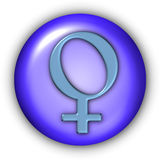 Venus Glyphs. Planet Glyphs Button - Venus (Include Clipping Path Royalty Free Stock Images