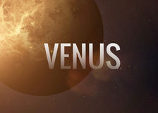 Venus inspiring inscription on the background of. Lettering on the background of the Venus. Elements of this image furnished by NASA Stock Photo