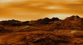 Venus landscape Stock Photo