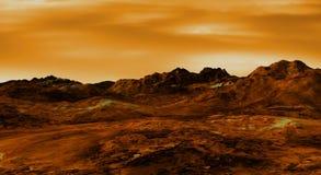 Venus landscape stock illustration