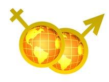 Venus and Mars symbols Stock Photo