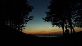 Venus over sea after sunset Royalty Free Stock Photography