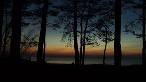Venus over sea after sunset Stock Photography