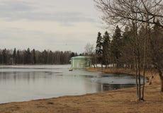 Venus Pavilion sur le lac blanc en parc de Gatchina, Gatchina Photo libre de droits