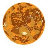 Venus planet doodle Royalty Free Stock Images