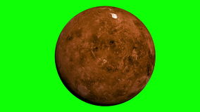 Venus planet with green screen Royalty Free Stock Photo