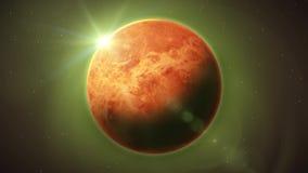 Venus Planet Inside Space Background vektor abbildung
