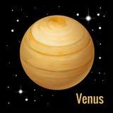 Venus Planet Planetas isométricos de alta calidad de la Sistema Solar Fotografía de archivo libre de regalías